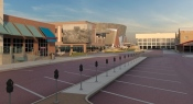 Conceptual view of the arena from Seventh Street, near Lazlo's in the Haymarket.